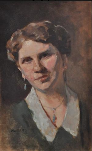 Portrait Of Ilona Duriho, oil on canvas, 52х33,5