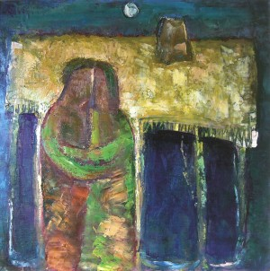 Under The Roof, 2007, oil on canvas, 80x80
