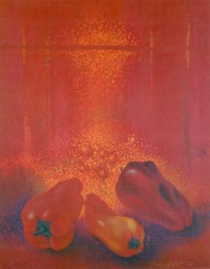 Red Paprika, 2007, paper, pastel, 65х50