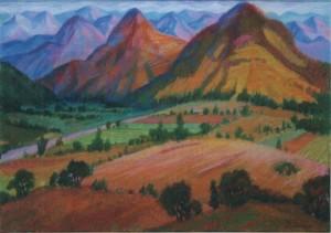 Пейзаж Карпат, 2004, ват.акв., 41 х59