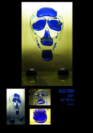 Blue 4erep, 2004, glass, 43х28х13