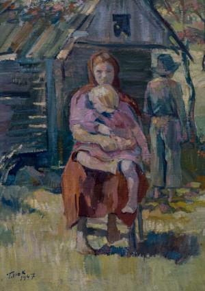 Mother with her child, 1947