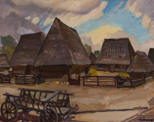 'Symko's Farm', 1965, oil on canvas, 65х80