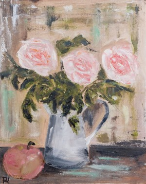 'Father's Roses', 2018, oil on canvas