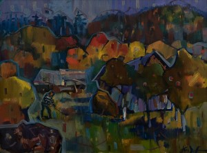 "A. Kopryva ""Autumn In Vovkove Village"", 2017, oil on canvas, 74x100"