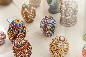 M. Kupar 'Pysanka', weaving, beads