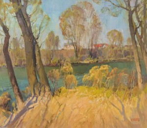Spring on the Uzh river, 2013v oil on canvas