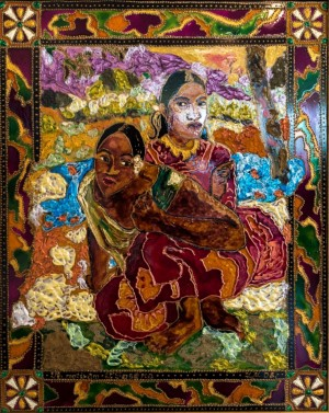 My Hohen, 2008, glass, paint on glass