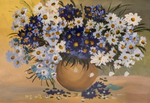 'Forget-Me-Nots And Camomiles' The work of a student of the art school 'Rom Art'