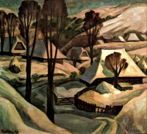 The Frosty Day, 1988, masonite on canvas, 80x90