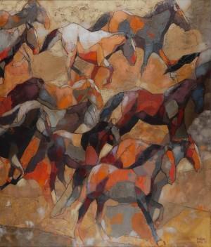 Rhythmic Running, 2011, 120x100