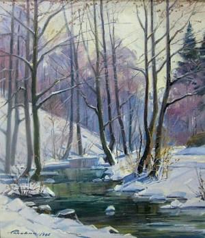 Ліс взимку, п.о., 80х60