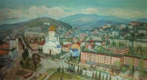 Панорама Ужгорода, 2006, 65х115