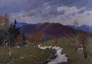 Останній сніг, 1957, п.о. 85х123