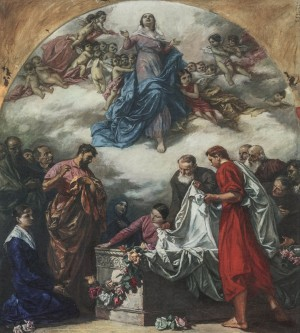 Assumption Of The Virgin Mary, 1940s, oil on canvas, 200x174