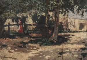 Farah In Lokhovo Village, 1920, oil on cardboard