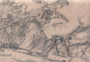 The Way Of The Cross (essay), 1930s, pencil on paper, 14,5х17,3