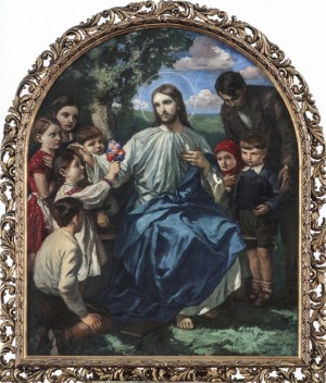 Christ Among The Children, 1935, oil on canvas, 141x116