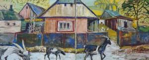 Долгош О. Костринські кози. Диптих, 2016, п. акр.