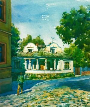 House in Kapitulna Street,24 1995 watercolour