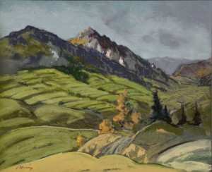 'On The Tatras Slopes', the 1940s, pastel on paper, 44x58.jpg