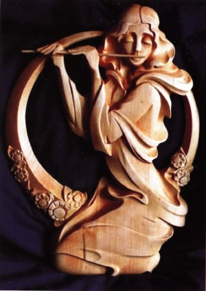 Music of Spring, 2012, woodcarving, relief