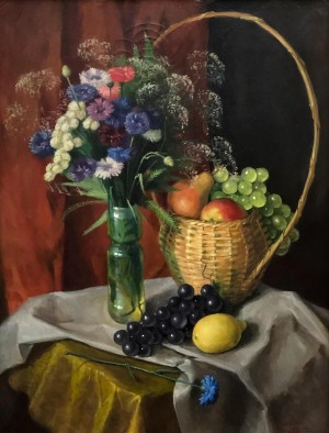 'Still Life With The Basket', 2002, oil on canvas, 65x50
