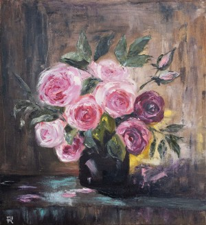 'Roses', 2018, oil on canvas