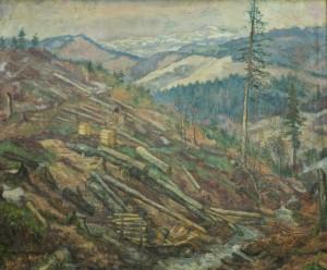 Лісосіка, 1940-ві, п.о. 91,5х109,8