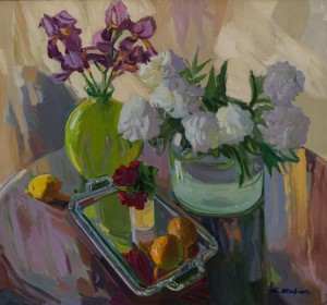 A. Kovach Still life with white peonies, 2011