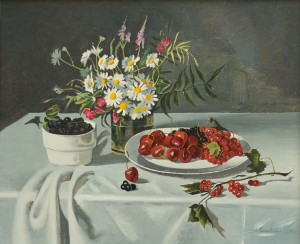 A. Landovska Still Life With Black Currants'