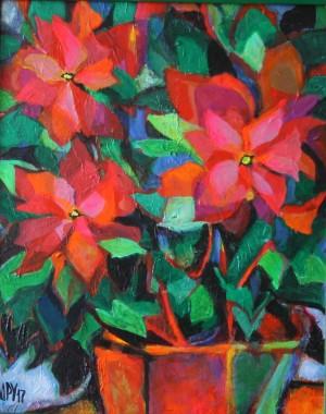 Poinsettia, 2017, acrylic on canvas, 50x40