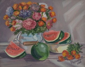 Watermelons, 2012, oil on canvas, 40x50