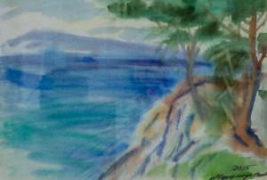 На березі моря, 2015, пап.акв., 41х28