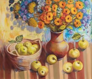 Натюрморт з яблуками