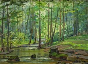 Лісовий пейзаж, п.о., 50х69