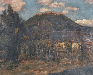 Khust Castle, 1939, oil on canvas, 80x120