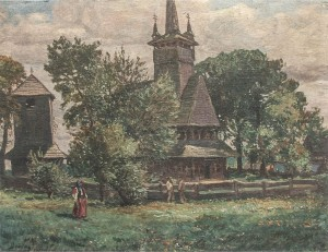 Church In Soldoboshi Village, 1936, oil on canvas, 70x91