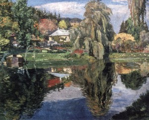Chertekh Village, 1934, oil on canvas, 78,5х96,6
