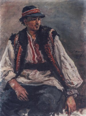 Mans Portrait, 1956, oil on cardboard, 62x46
