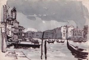 Венеція. Блакитний день, пап. флом. акв. 24х34