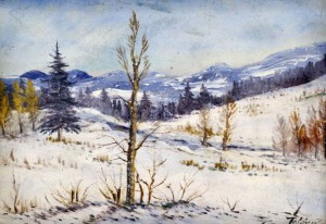 'Lonely Tree In The Winter', 1935, oil on cardboard, 25x36.jpg