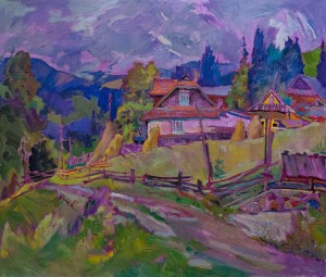 V. Sandiuk 'At Hutsul Region', 2015, oil on canvas, 60x70