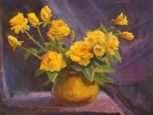 Жовті троянди, 2013, п.о., 50х70