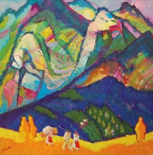 Сінокоси, 2010, п.о., 100х100