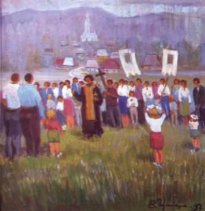 Освячення полів, 1997, п.о., 70х60