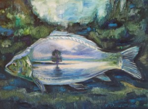 V. Derda.Improvisation on the theme Water, Mirror Carp