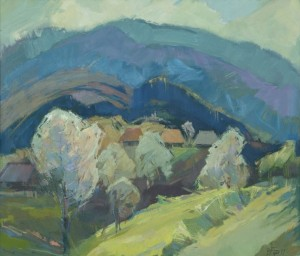 Spring in the Carpathians', 2017, oil on canvas, 70x80