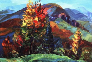 Autumn On The Pass, 2014, oil on canvas