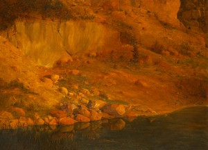Landscape With Stones, 2004, oil on canvas, 87x121